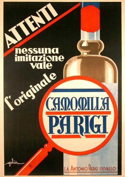 Eugenio Colmo Italian Art Deco Period Liquor Poster by Eugenio Colmo 1933