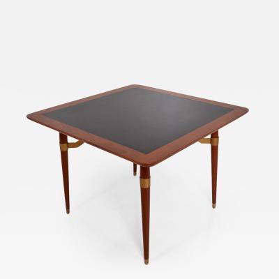 Eugenio Escudero Mexican Modernist Game or Dining Table in Mahogany Wood ATTR Eugenio Escudero