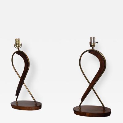Eugenio Escudero Mexican Modernist Sculptural Table Lamps by Eugenio Escudero 1950s