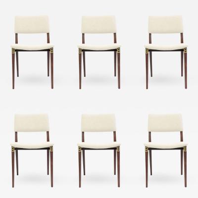Eugenio Gerli Eugenio Gerli set of six S82 chairs for Tecno