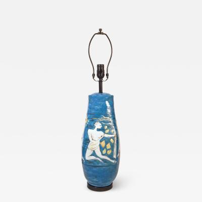 Eugenio Pattarino Modern Blue Lamp