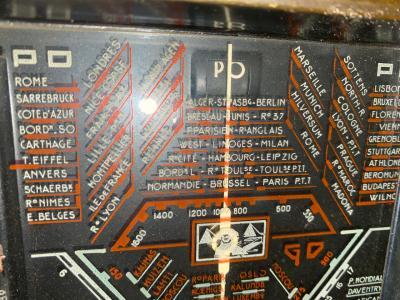 European French Restored Art Deco Modernist Clock Radio Bluetooth