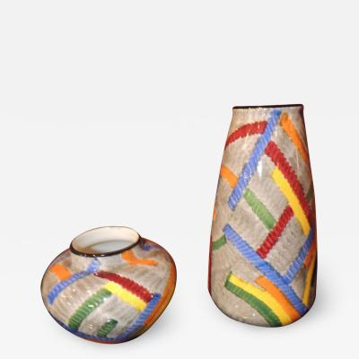 Eva Zeisel Pair of Art Deco Ceramic Vases by Eva Zeisel