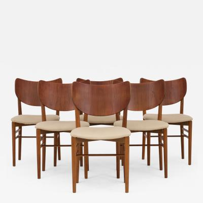 Eva and Nils Koppel Chairs in teak and oak set