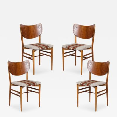 Eva and Nils Koppel Set of 4 Eva Niels Koppell Dining Chairs