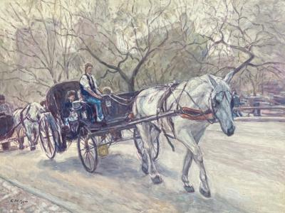 Evelyn Metzger Horse drawn Carriage Central Park