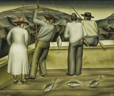 Everett Gee Jackson The Fishing Barge
