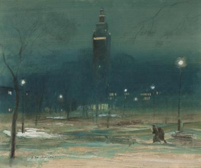 Everett Shinn Madison Square Tower