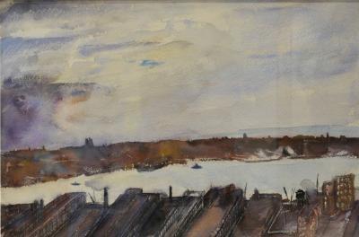 Everett Shinn View of the East River