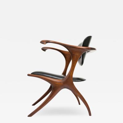 Evert Sodergren Early and Rare Evert Sodergren Sculptured Studio Craft Chair