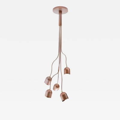Evocative Pendant with Aluminum Shades and Powder Coated Metal