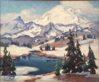 Evylena Nunn Miller Snow Capped Mountains