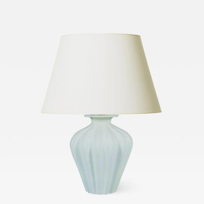 Ewald Dahlskog Biomorphic Lobed Form Table Lamp in Pale Celadon by Ewald Dahlskog for Bo