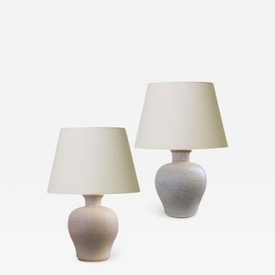 Ewald Dahlskog Duo of Swedish Modern Table Lamps by Ewald Dahlskog for Bo Fajans