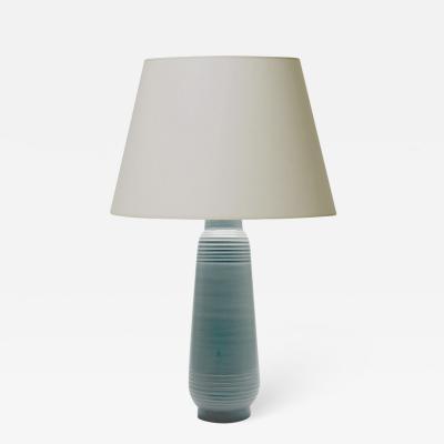 Ewald Dahlskog Tall Art Deco Table Lamp in Pale Blue by Ewald Dahlskog for Bo Fajans