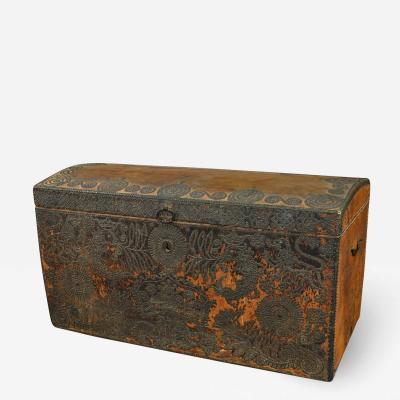 Exceptional 18th Century Marriage Chest