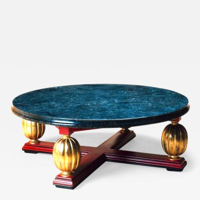 Exceptional Art Deco Coffee Table with Marble Top France 1930s