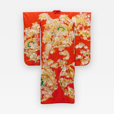 Exceptional Embroidered Japanese Ceremonial Kimono