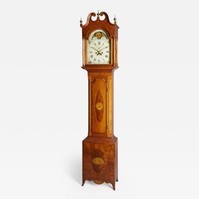 Exceptional Inlaid Clock from New Jersey