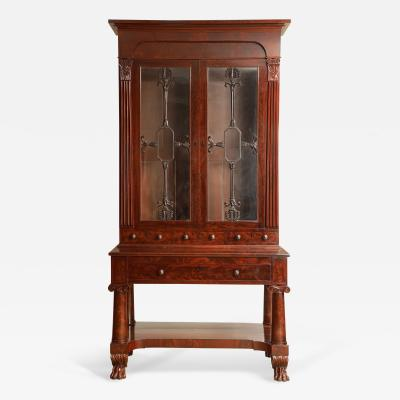 Exceptional Mahogany Bureau Bookcase from Baltimore Maryland Circa 1830