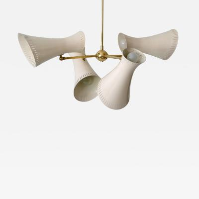 Exceptional Mid Century Modern 8 Flamed Sputnik Chandelier or Pendant Lamp 1950s