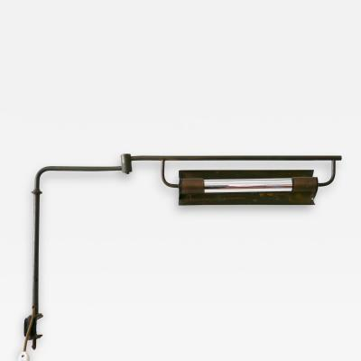Exceptional Modernist Bauhaus Articulated Brass Clamp Table Lamp Germany 1930s