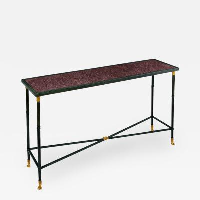 Exceptional Neo Classical Porphyry Console Table