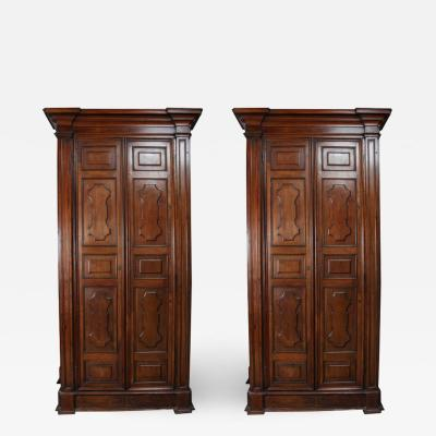 Exceptional Pair of Grand talian Wardrobes