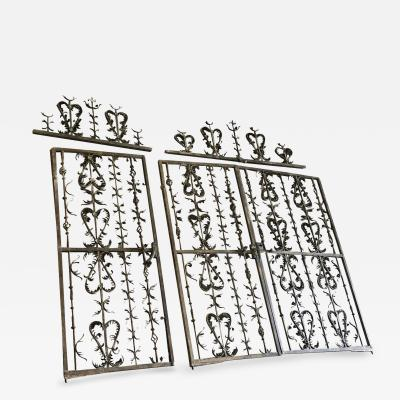 Exceptional Set Of Spanish Late 16th Early 17th Century Iron Gates