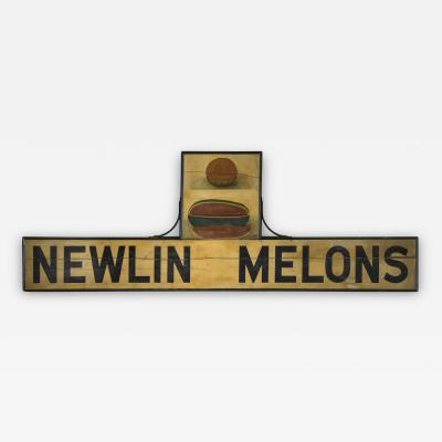 Exceptional Trade Sign Newlin Melons American