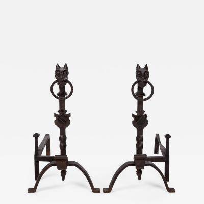 Exceptional pair of cast iron Chevets