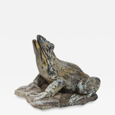 Exceptionally Large French Zinc Frog Fountain
