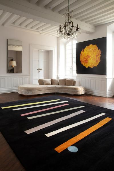 Exclusive Artistic rug by contemporary artist David Stein