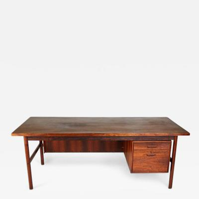 Expansive Brazilian Rosewood Executive Desk