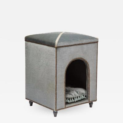 Exquisite French Louis XVI Style Velvet Upholstered Niche de Chien Dog Bed
