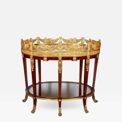 Exquisite French Ormolu Bronze and Mahogany Surtout De Table Plateau circa 1860