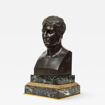 Exquisite French Patinated Bronze Bust of Emperor Napoleon I after Canova