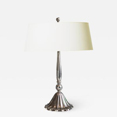 Exquisite Swedish Silvered Desk Lamp in the Form of a Tassel