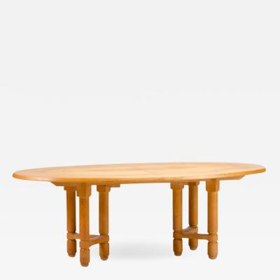 Extendable dining room table in solid oak with two additional leaves