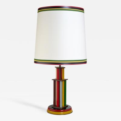 Extraordinary Italian Colored Glass Lamp 1930s