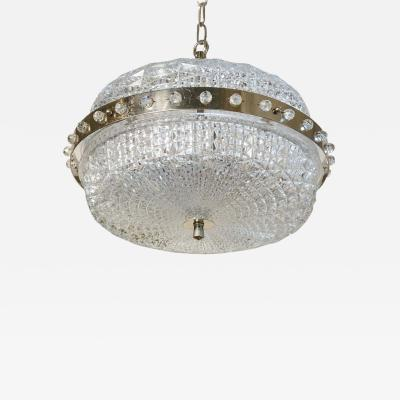 Extraordinary Mid Century Modern Swedish Pressed Glass Pendant