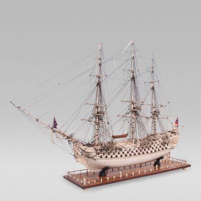 Extremely Large Napoleonic Prisoner of War Bone Model of the H M S CALEDONIA