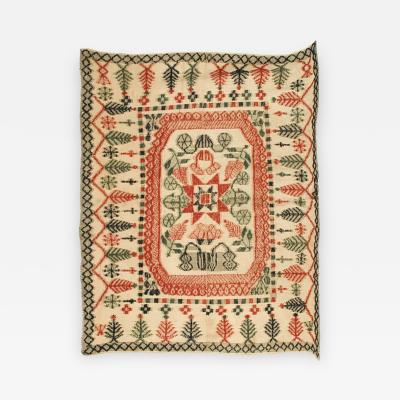 Extremely Rare Weftwork Bedspread Mid 19th Century