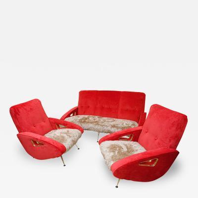 Exuberant Maurice Mourra Mid Century Sofa Set