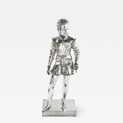 F Barbedienne a Life Size Silvered Bronze of King Henri IV Enfant as a Child