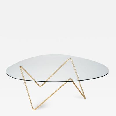 F J Barba Corsini Barba Corsini Pedrera Coffee Table in Brass for Gubi
