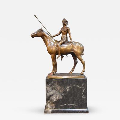 F Thiermann Bronze Roman Femail Warrior by F Thiermann