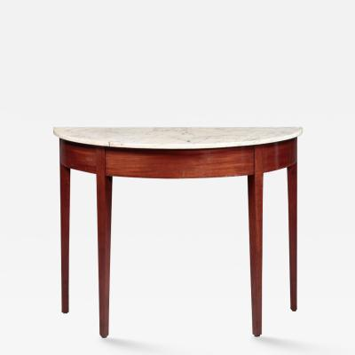 FEDERAL DEMI LUNE SERVING OR CONSOLE TABLE