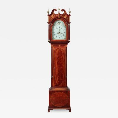 FEDERAL INLAID TALL CASE CLOCK Works by E Massey Newcastle England