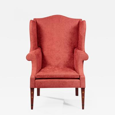 FEDERAL INLAID WING CHAIR